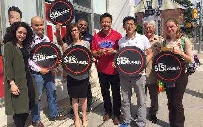 Les étudiantes et étudiants appuient la Lutte pour 15 $ et l'équité partout en Ontario